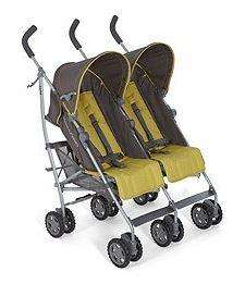 Mamas & Papas Kato Twin Buggy - Moss Grey £99 Was £239 @ TESCO