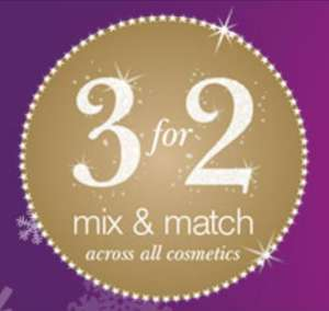 3 for 2 on all cosmetics @ Superdrug