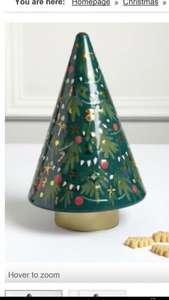 Marks and Spencer (Instore) musical rotating biscuit Christmas tree tin is half price for £5
