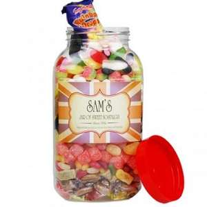 Personalised Jar of mixed traditional sweets £14.99 @ personalised gift shop