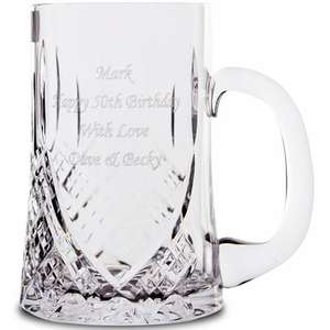 Personalised Crystal Pint Tankard £32.94 @ personalised gifts shop
