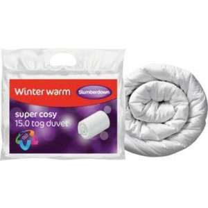 Slumberdown Winter Warm 15 Tog Duvet - Kingsize - £14.99 @ Argos