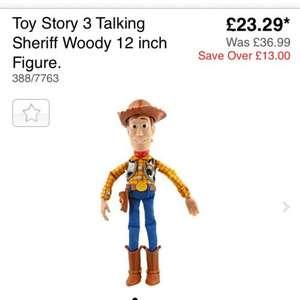 Toy story woody doll £23.29  @ Argos
