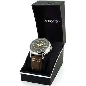 Sekonda Gents Brown Dial Date Strap WR Watch 3882 Only £20.00 Sold by tictocwatches and Fulfilled by Amazon