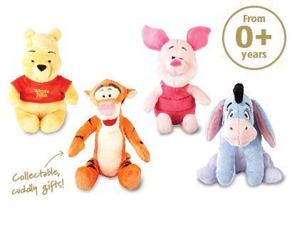 Winnie the Pooh Soft Disney Toys £3.99 @ ALDI