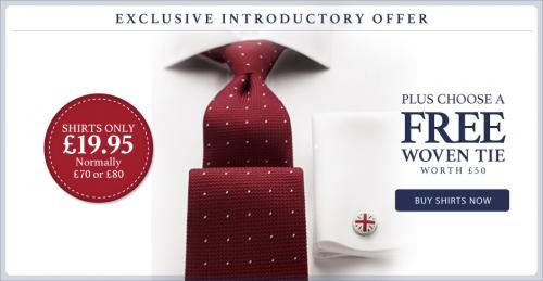 Charles Tyrwhitt shirts for £19.95