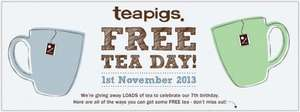 Free Tea Day - Teapigs - get a free cuppa at participating cafes and free samples at tube stations