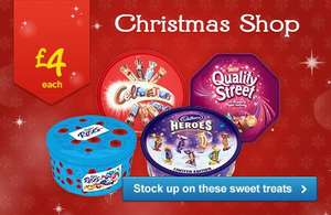 Celebrations, Quality Streets, Heroes and Cadbury Roses Tubs £4 @ Asda