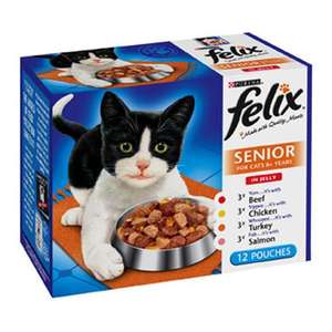 Felix Catfood boxes of 12 pouches 4 for £10 !!!!! @ Pets at Home