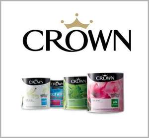 Crown Paint £18.49 Buy One Get One Free at B & M stores.