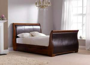 Wood and Leather kingsize bed 599 this weekend at Dreams.co.uk