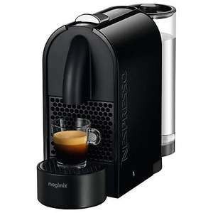 Nespresso U and Aeroccino3 Coffee Machine in Black only £109.95 and receive a £70 Nespresso Voucher @ John Lewis (instore)