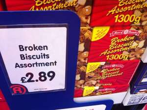 Broken biscuits 1.3kg for £2.89 at The Range Hereford! Nom nom nom!