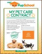 Free printable Responsible Pet Owner Activity Sheet for Kids
