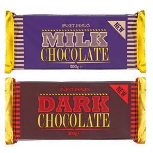 Sweet Heaven Chocolate 300g Milk/Dark £1 in Poundland
