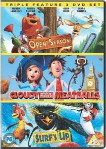 Cloudy With A Chance Of Meatballs / Open Season / Surf's Up DVD (3 Disc Boxset) £4.99 delivered @ Zavvi