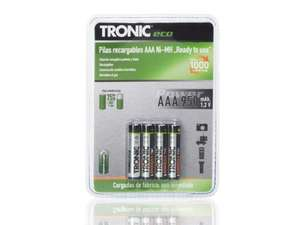 Tronic eco Ready to use NIMH Rechargeable batteries - £2.99 @Lidl from 11th