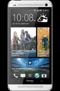 HTC One (Black or Silver) Free - 600 Mins, 1GB Data, Unlimited Texts + £40 Quidco Cashback & Free Hotel Break For Two @ Phones.co.uk -  p/m