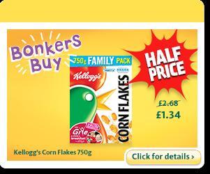 Kellogg's Corn Flakes 750g - £1.34 @ Morrisons