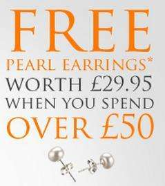 Free pearl earrings when you spend £50 on jewellery @ Steffans