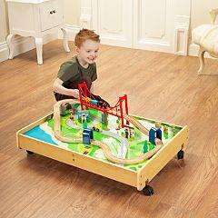 wooden train set inc table £35 @ Asda