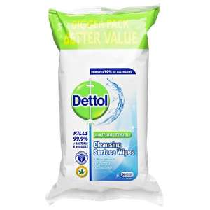 Dettol Surface Wipes Cleansing Anti-Bacterial x 72 £1.40 @ Wilkinsons