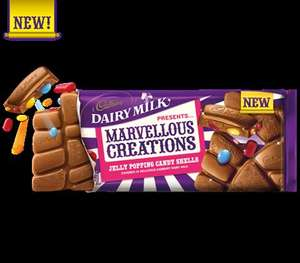 2 X CADBURY MARVELLOUS CREATIONS (ALL VARIETIES) 400G for £3 @ ESSO