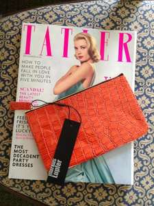 Free Markus Lupfer Clutch with December's issue of Tatler Magainze £4.20