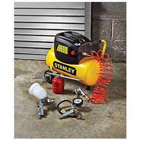Stanley 24Ltr Air Compressor with 5 Piece Accessory Kit - 1/3rd off £99.99 Screwfix