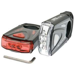 BELL 350 LED Bike Lights Front & Rear Locking Very Bright £10 SET! £10 @ Asda Direct