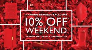10% off This Weekend Online and Instore @ Harrods