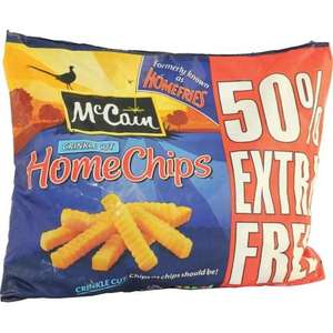 McCain Home Chips Crinkle Cut (1.5kg + 50% Extra Free) so (2.25kg) for just £2.00 @ Heron Foods