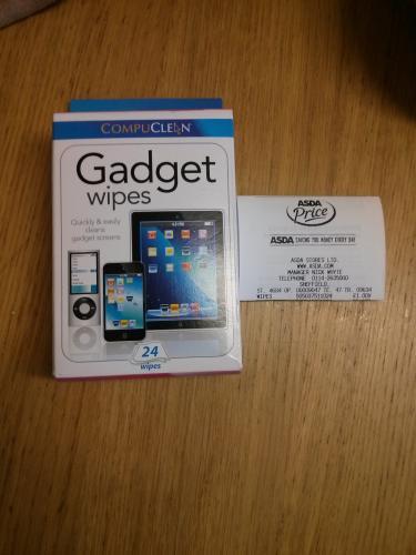 Compuclean Gadget Screen Wipes 24 pack £1 @ asda