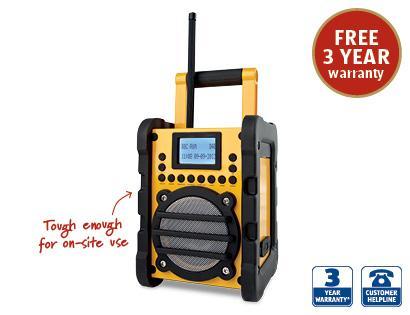 Heavy Duty DAB Site Radio £49.99 ALDI