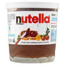 Nutella 200g for £1.00 at Tesco (and free milk glass!)