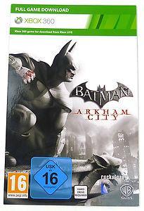 Batman Arkham City full game download for Xbox 360, £5.99 at eBay (ninjascastle)