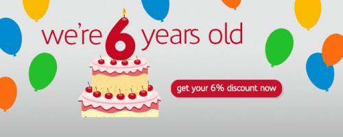 6% Off Fares to celebrate their 6th Birthday @ London Midland