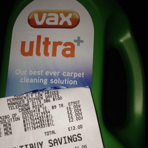 Vax Ultra+ Carpet Cleaner Scanning at £6 ASDA