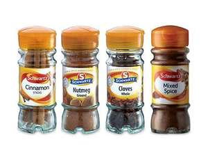 Schwartz spices 99p @ Aldi includes cinnamon sticks,cloves,nutmeg & mixed spice, ideal for those xmas recipies