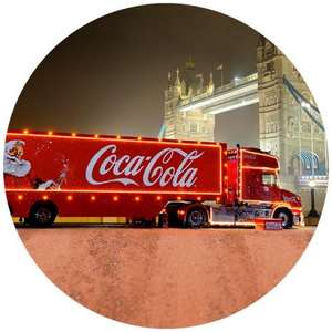 Free! Coke and photo with the Christmas truck!