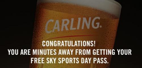 Free NOW TV Sky Sports Day Pass via Carling Website