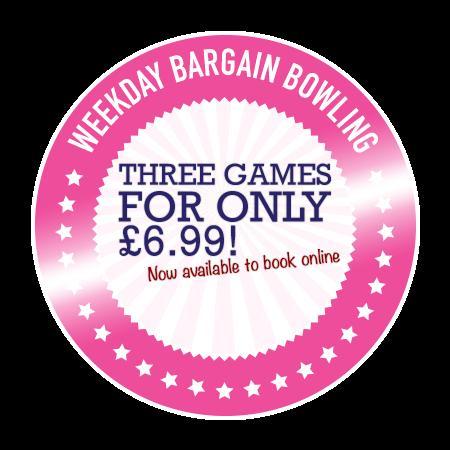 3 Ten pin Bowling games for £6.99 @ Bowlplex
