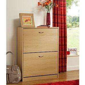 Oak Effect Shoe Rack Cabinet for £19.00 @ direct.asda.com home delivery £2.95