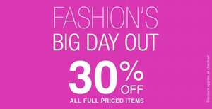 30 % off full priced items @ Internacionale clothing