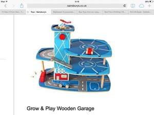 Grow n play wooden garage £11.99 @ Sainsburys instore