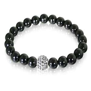 Hematite and Real Crystal Hand Set Lacey Bracelet £3 @warren james and £3.50 postage