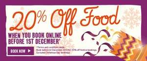 20% off festive menu @ Flamming Grill pubs (book and pay deposit online)
