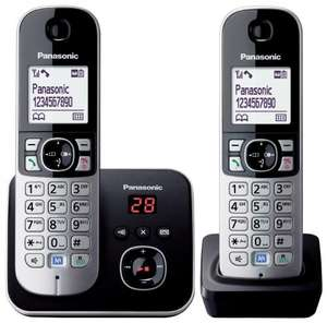 Panasonic KX-TG6822EB Twin DECT Cordless Telephone Set with Answer Machine - £35.32 @ Amazon