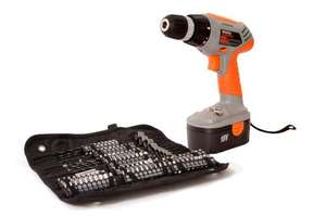 Terratek TPDC18134K 18V Cordless Drill with Accessory Kit (120 Pieces) £24.99 delivered at Amazon