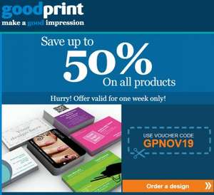 Save up to 50% at Goodprint for the next 7 days only
